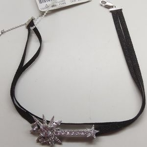 Betsey Johnson New Sunburst/Star Black Choker
